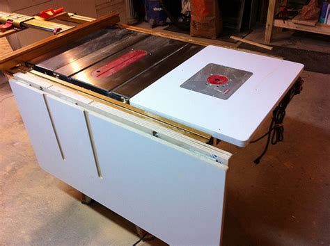 table saw folding outfeed table flickr photo