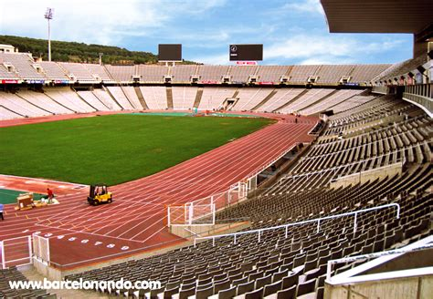 barcelona olympic stadium barcelona olympic park at montjuic