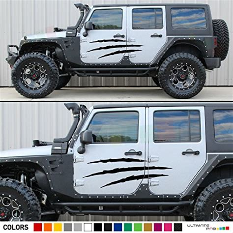 jeep jk sticker jk jeep wrangler door claw scratches decal sticker