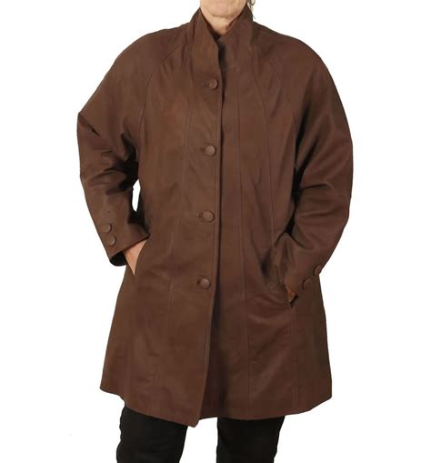 leather swing coat 3 4 length quot coco buff quot leather swing quot coat from simons