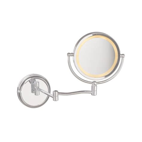Vanity Mirror With Lights Wall Mount by Shop Dainolite Lighting Chrome Magnifying Wall Mounted