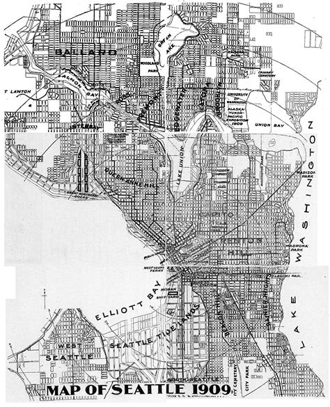 seattle map directions neighborhoods in seattle