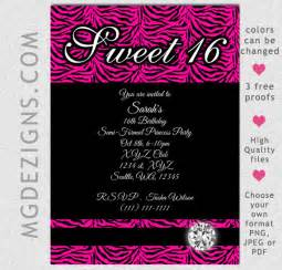 sweet 16 invitation template printable birthday invitation template