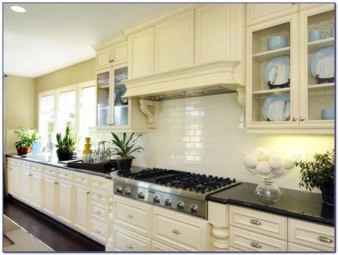 Cream Subway Tile Backsplash Ideas   Tiles : Home Design