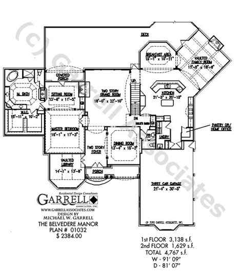 belvedere floor plan belvedere manor house plan house plans by garrell