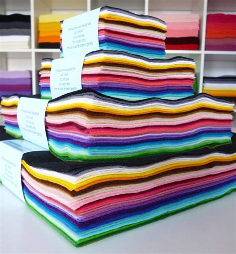 Felt Paper Craft - 12 premium wool blend felt rainbow stack