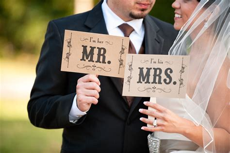 creative wedding ideas from etsy mr and mrs decor photobooth prop 2