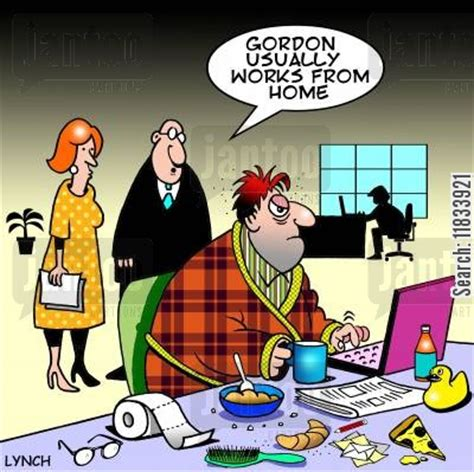 Online Project Work From Home - morning person cartoons humor from jantoo cartoons