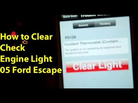how to clear check engine light how to clear check engine light ford escape 05