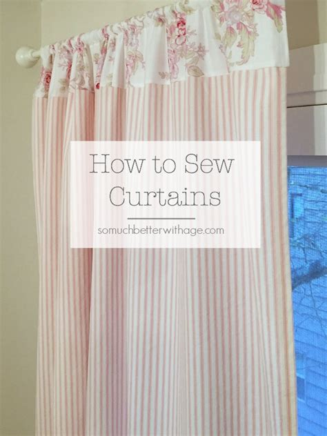 how to make curtains from fabric how to sew pink ticking curtains so much better with age