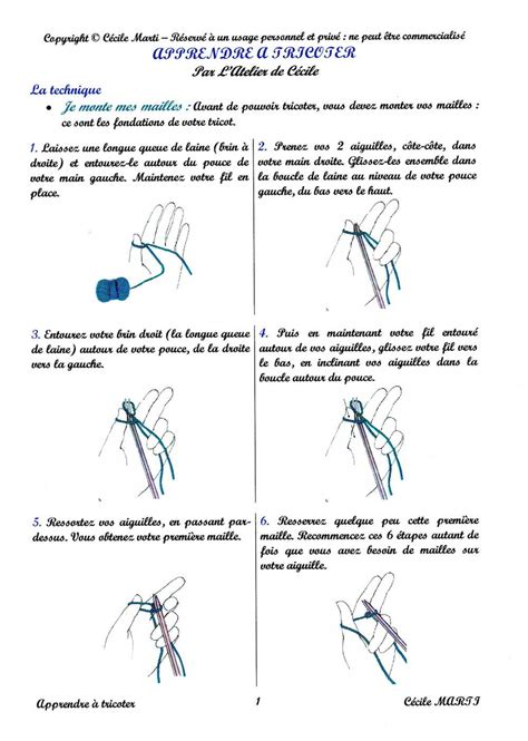 Monter Mailles Tricot by Apprendre A Tricoter Maille Nos Conseils