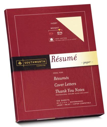 ivory or white resume paper southworth exceptional thesis paper 100 cotton 20lb