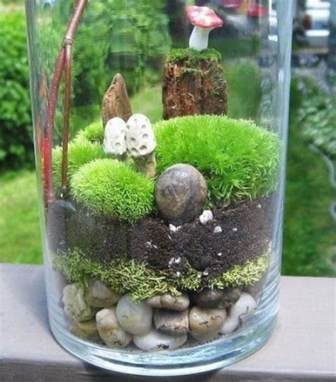 desktop gardens simple ideas  cool diy terrariums
