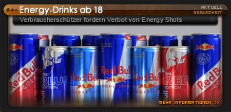ab wann energy drinks energy drinks ab 18 verbrauchersch 252 tzer fordern verbot