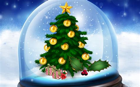 christmas snow globe wallpaper wallpapersafari