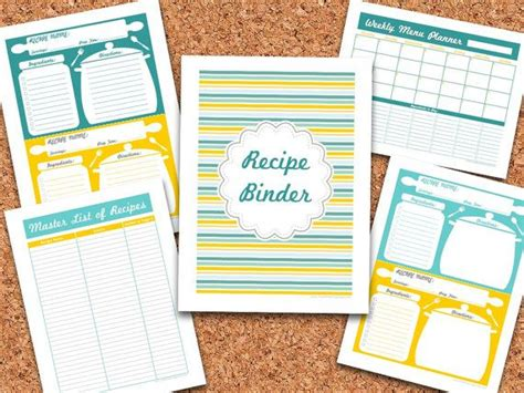 printable recipe organizer recipe organizer binder printable just b cause