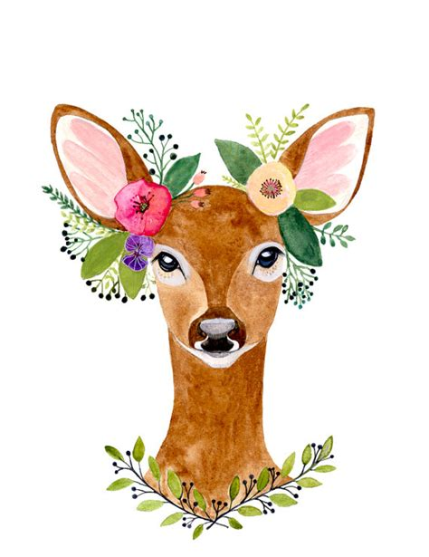 reindeer printable wall art deer print deer antler woodland decor wall artwoodland