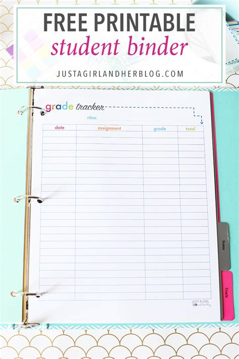 printable planner pages for students organizing resources and tips just a girl and her blog
