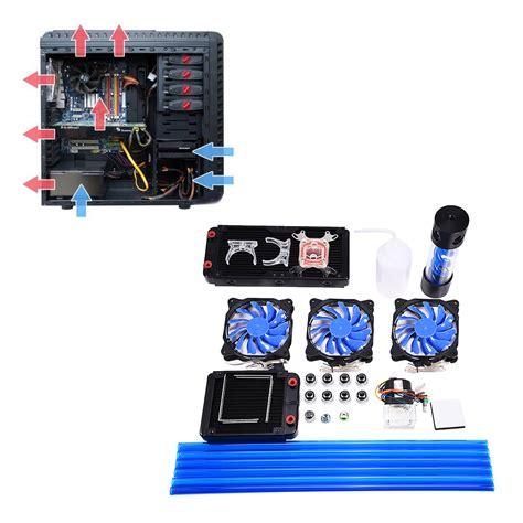 Melanox Comple Kit 2 pc water cooling complete kit cpu block 240mm radiator reservoir heat sink ebay