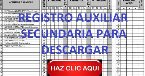 Descargar Registro Auxiliar Secundaria Gratis   registro auxiliar secundaria para descargar preg 250 ntale