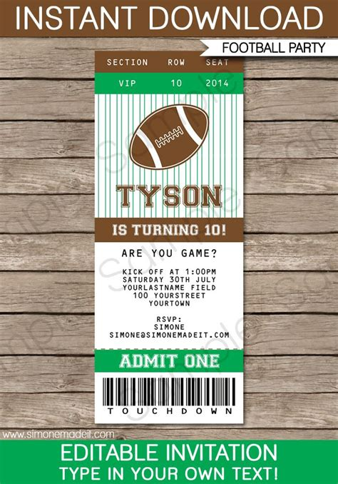 sports ticket invitation template 25 best ideas about ticket template on ticket