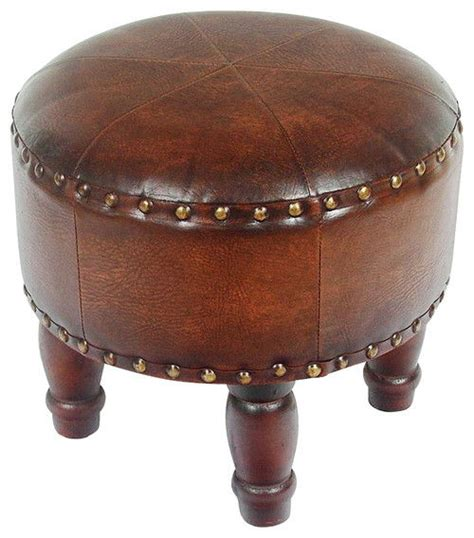 round faux leather ottoman 14 best small ottoman options for 2018