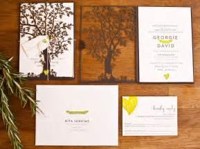 tree wedding invitations georgie dave s nature inspired wedding invitations