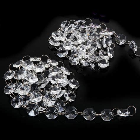 garland chandelier 10m 33ft acrylic clear bead wedding supply decor