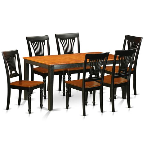 Dining Room Furniture Pieces East West Nicoli 7 Dining Set Wayfair