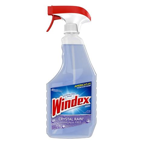 windex 23 fl oz crystal rain glass cleaner 679593 the