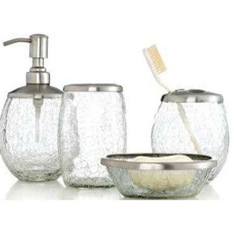 30 Best Images About Bathroom Ideas On Pinterest Crystal Crackle Glass Bathroom Accessories