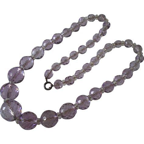 vintage faceted amethyst rock bead