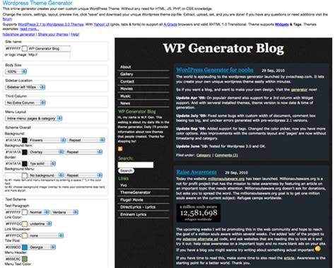wp theme generator online 40 useful online generators for web designers noupe