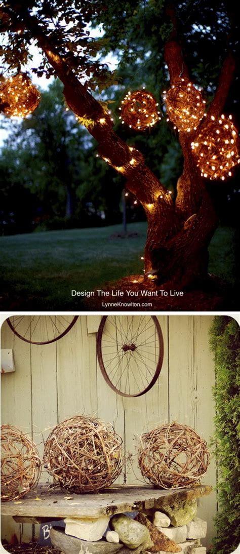 cheap  easy diy lighting ideas  outdoor