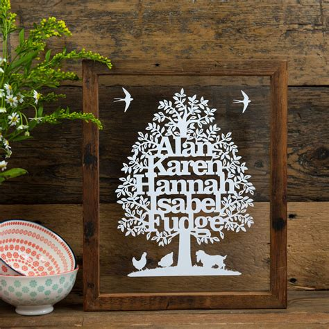 paper cut family tree template family tree personalised papercut kyleigh s papercuts