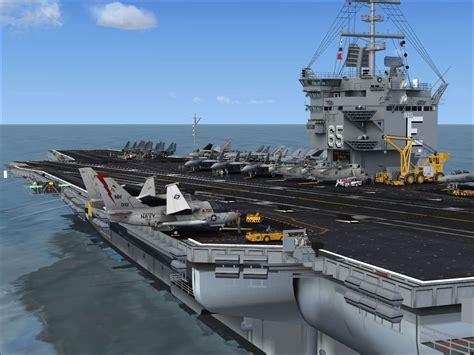 carrier for plane uss enterprise aircraft carrier for fsx prepar3d by team sdb