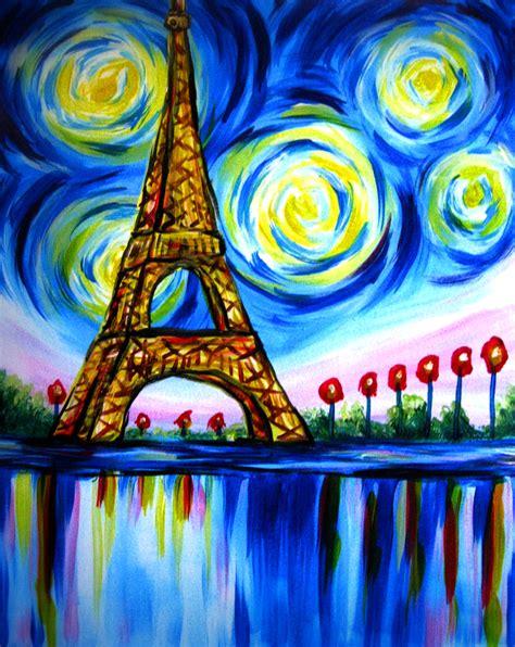 paint nite uk beautiful eiffel tower by julie ducap paint nite