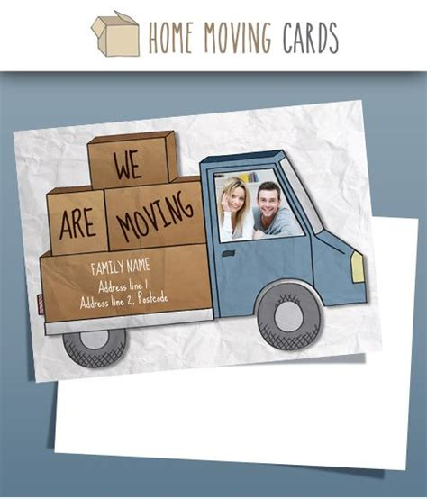 cards that move templates 10 best images about change of address cards photo