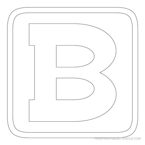printable block letter stencils free printable stencils