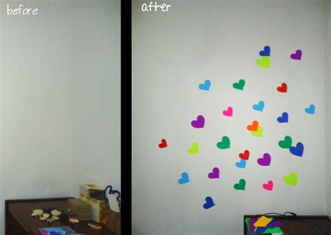 cara membuat hiasan dinding mudah hiasan dinding diy wall sticker dari kertas atau karton