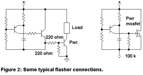 typical pull resistor flasher circuits