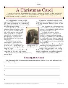 a christmas carol common core standards core standards