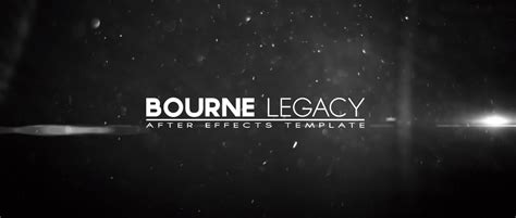 after effect title template bourne legacy title after effects template