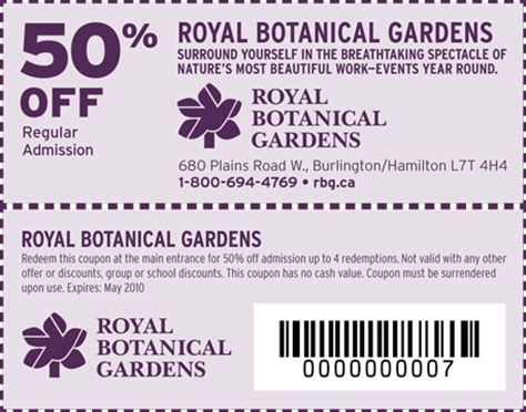 Royal Botanical Gardens Coupon Garden Code Promo 28 Images Gilroy Gardens 14 Ticket Printable Coupon Printable Olive