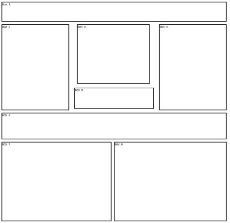 layout design with div free div layouts 8 box 8 div layout