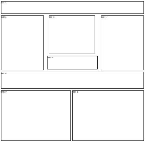 div layout free div layouts 8 box 8 div layout