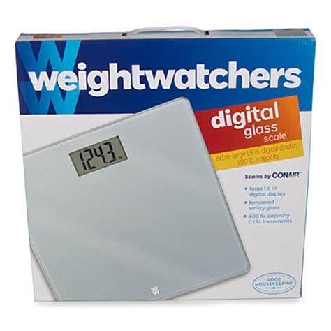 Weight Watchers Precision Electronic Scale By Conair by Weight Watchers 174 By Conair Glass Precision Electronic