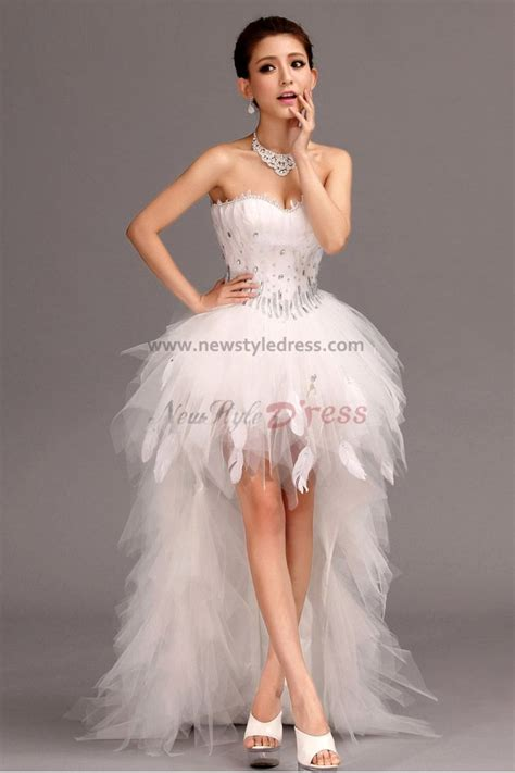 Short White Feather Dress   Dress FA