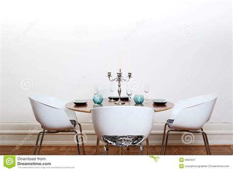 Round Dining Room Tables For 6 Sala De Jantar Moderna Mesa Redonda Fotografia De Stock