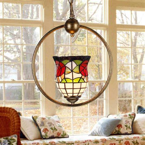Deco Dining Room Lighting Stained Glass Pendant Light Deco Lshade E27 Led